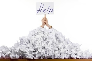 call for help in organizing paper clutter